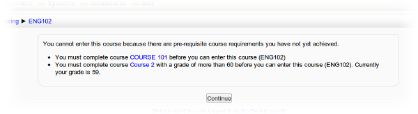 Course prerequisites in Moodle 2 | Enovation