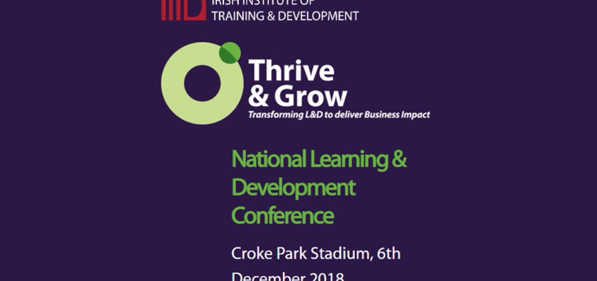 Thrive & Grow - National learning & Development Conference poster