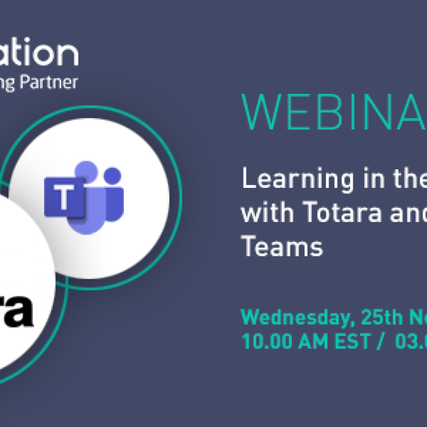 Totara Microsoft Teams webinar by Enovation, Totara Platinum Partner